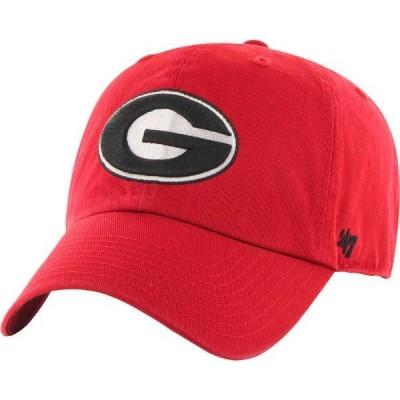フォーティーセブン メンズ 帽子 アクセサリー '47 Men's Georgia Bulldogs Red Clean Up Adjustable Hat