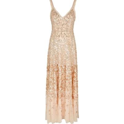 ニードル アンド スレッド Needle & Thread レディース パーティードレス ワンピース・ドレス patchwork sequin-embellished tulle gown Pink