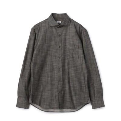 シャツ ブラウス ホリゾンタルカラーシャンブレーシャツ/コットン100%