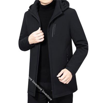 ショート ダウンジャケット メンズ ダウンコート ウィンター 大きいサイズ 中綿入れ 厚手 暖か 防水 保温 防寒着 アウター フード付き