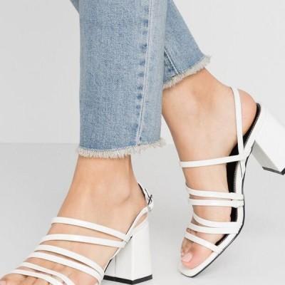 レディース サンダル ONLAMANDA STRING HEELED - Sandals - white