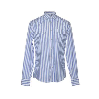 MACCHIA J シャツ ブルー 40 コットン 100% シャツ
