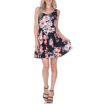 ホワイトマーク レディース ワンピース トップス Crystal Flower Print Dress