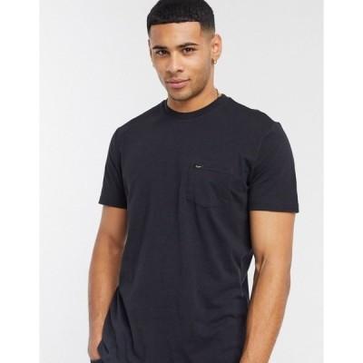 リー メンズ Tシャツ トップス Lee pocket t-shirt in black Black