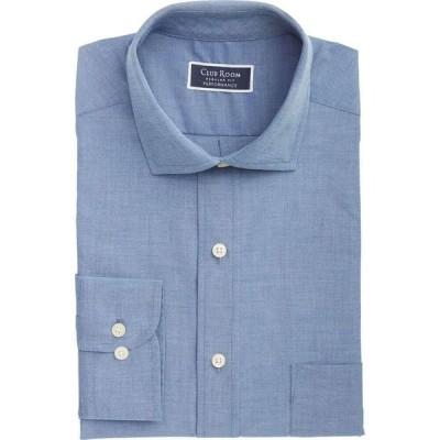 クラブルーム Club Room メンズ シャツ シャンブレーシャツ トップス Classic/Regular-Fit Performance Stretch Chambray Dress Shirt Indigo