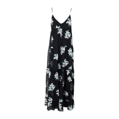 ドンダップ DONDUP ロングワンピース&ドレス ブラック 44 シルク 100% ロングワンピース&ドレス