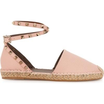 ヴァレンティノ Valentino レディース エスパドリーユ シューズ・靴 Garavani Rockstud Pink Leather Espadrilles Pink