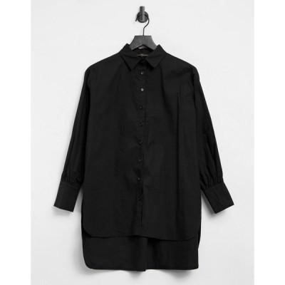 ラブアンドアザーシング レディース シャツ トップス Love & Other Things oversized shirt in black Black