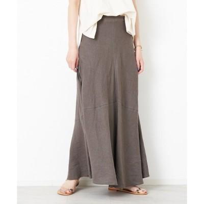 スカート 麻製品染マキシスカート