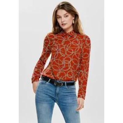 ONLY レディースシャツ ONLY Button-down blouse - orange orange