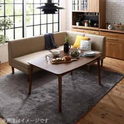 ダイニングテーブルセット 4人用 コーナーソファー L字 l型 椅子 おしゃれ 安い 北欧 食卓 カウチ 4点 ( 机+2Px1+1Px1+コーナーx1 ) 幅10