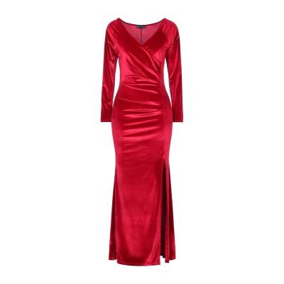 VANESSA SCOTT ロングワンピース&ドレス レッド M ポリエステル 95% / 指定外繊維(その他伸縮性繊維) 5% ロングワンピース&
