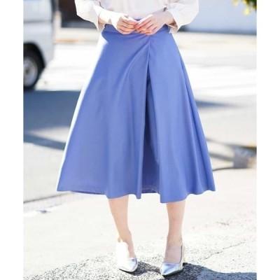スカート 【洗える】フレアーミディスカート
