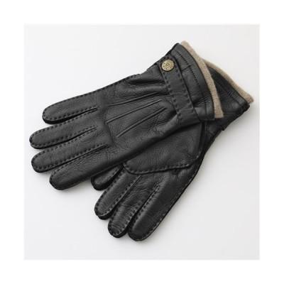 【import select Musee】 5-1548 Gloucester レザー グローブ 手袋 手ぶくろ アームウェア カシミヤライニング メンズ レディース ブラック 8 import select Musee