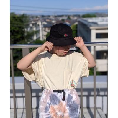 WEST CLIMB / FRUIT OF THE LOOM/フルーツオブザルーム  キッズ ツイル ロゴ刺繍 バケットハット KIDS 帽子 > ハット