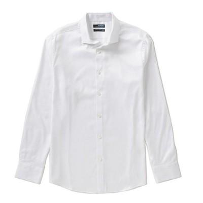 ムラノ メンズ シャツ トップス Wardrobe Essentials Long-Sleeve Slim-Fit Textured Spread-Collar Sportshirt