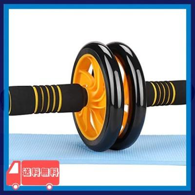 AUOPLUS 腹筋ローラー アブホイール 2輪 膝マット付き 男性 女性 初心者 上級者 アブローラー 腹筋 トレーニング