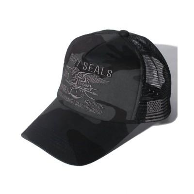 (AVIREX/アヴィレックス)AX NAVY SELALS MESH CAP/ユニセックス アーミー