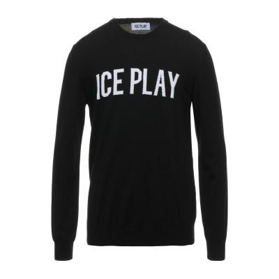 ICE PLAY プルオーバー ブラック XL バージンウール 100% プルオーバー