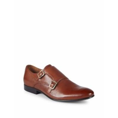 ケネスコール メンズ ドレスシューズ 革靴 Leather Monk Strap Shoes