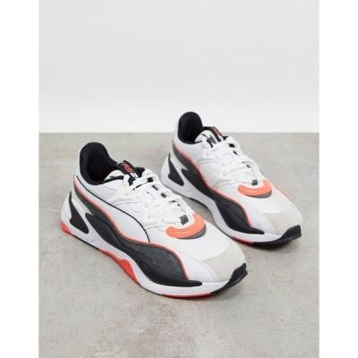プーマ メンズ スニーカー シューズ Puma RS-2K sneakers in white and red Puma white-gray