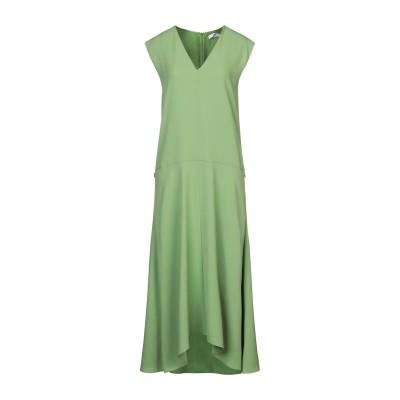 ティビ TIBI 7分丈ワンピース・ドレス グリーン 00 トリアセテート 73% / ポリエステル 27% / シルク 7分丈ワンピース・ドレス