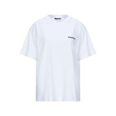 WANDERING T シャツ ホワイト 44 コットン 100% / ポリウレタン T シャツ