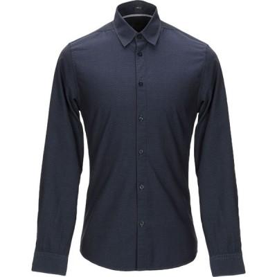 ゲス GUESS メンズ シャツ トップス patterned shirt Dark blue