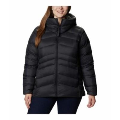コロンビア レディース コート アウター Plus Size Autumn Park¢ Down Hooded Jacket Black/Shark