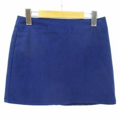 【中古】マーキュリービジュー Mercury Bijou ミニ キュロット スカート ショート S ネイビー 紺系 裏地