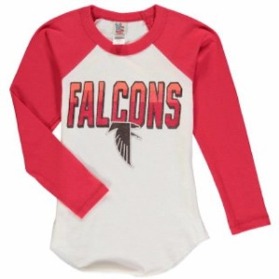 Junk Food ジャンク フード スポーツ用品  Junk Food Atlanta Falcons Youth White Raglan Long Sleeve T-Shirt