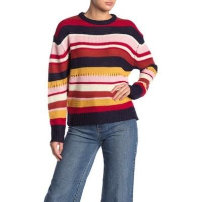 ラッシュ レディース ニット&セーター アウター Multi Stripe Sweater RED MULTI