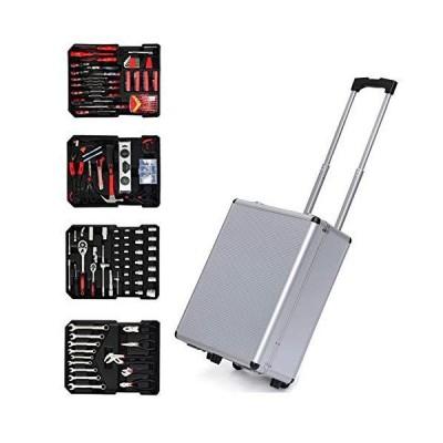工具セット 186 Pcs Household Tool Set, General Home Repair Tool Combination Kit, Auto Repair Hand Tools Kit with Aluminium Storage Case