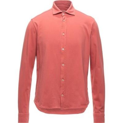 チルコロ1901 CIRCOLO 1901 メンズ シャツ トップス solid color shirt Coral