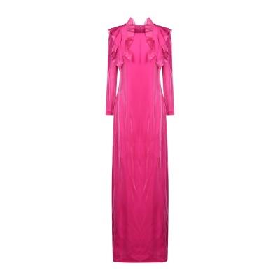 ジェニー GENNY ロングワンピース&ドレス フューシャ 46 レーヨン 77% / ポリウレタン 23% / シルク ロングワンピース&ドレス