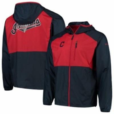 Columbia コロンビア スポーツ用品  Columbia Cleveland Indians Navy/Red Flash Forward Full-Zip Windbreaker Jacket