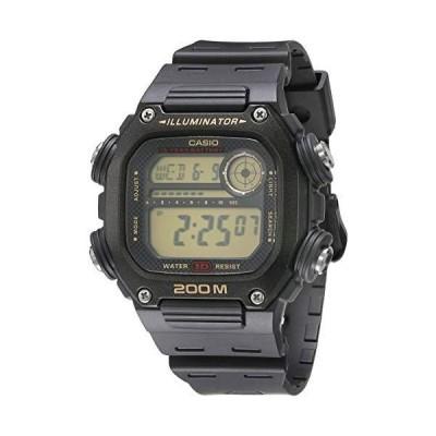 カシオ 10年バッテリークォーツ腕時計 樹脂ストラップ付き ブラック 27.2 (モデル:DW-291H-9AVCF)[並行輸入品]