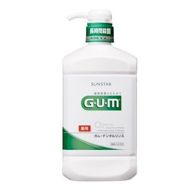 ガム(GUM) デンタルリンスレギュラー 960mL サンスター マウスウォッシュ 原因菌を殺菌・除去 歯周病予防