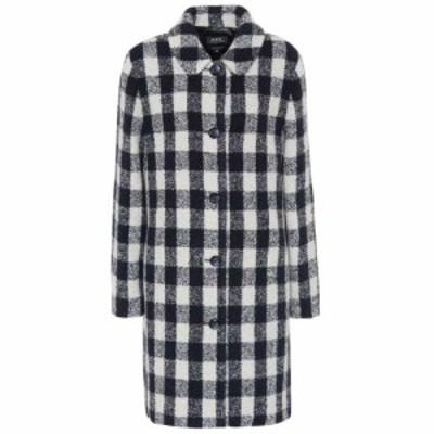 アーペーセー A.P.C. レディース コート アウター Poupee checked wool-blend coat Lab Gris Clair