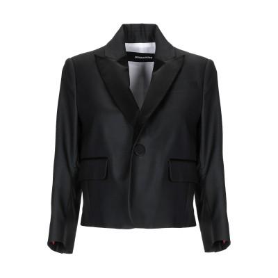 ディースクエアード DSQUARED2 テーラードジャケット ブラック 42 バージンウール 65% / シルク 35% テーラードジャケット