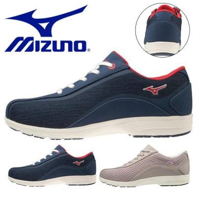ウォーキングシューズ ミズノ レディース MIZUNO LS802 ファスナー付き スニーカー 靴 カジュアル ウォーキング シューズ B1GF1932 得割23