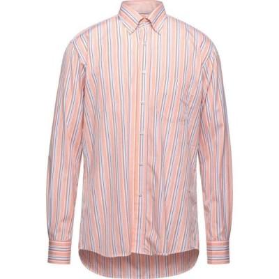 ミルト MIRTO メンズ シャツ トップス striped shirt Salmon pink