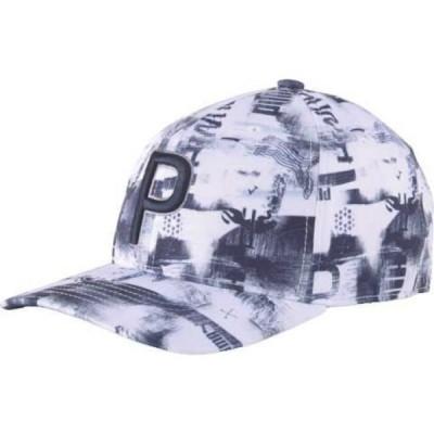 プーマ PUMA メンズ キャップ スナップバック 帽子 Hacked P 110 Snapback Golf Hat White/Navy