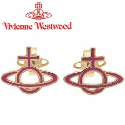ヴィヴィアンウエストウッド ピアス レディース Vivienne Westwood オーブ ヴィヴィアン オルネラバスレリーフピアス ピンク×ゴールド