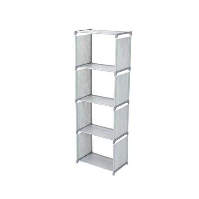 多層立ち本棚本棚収納棚ラックホームオーガナイザー用リビングルーム寝室(灰色)