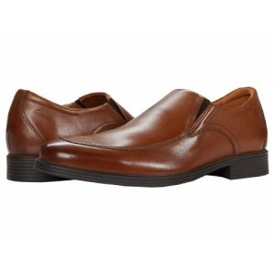 Clarks クラークス メンズ 男性用 シューズ 靴 ローファー Whiddon Step Dark Tan Leather【送料無料】