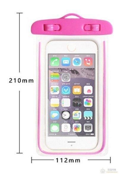 【螢光手機防水袋】AP0073 手機防水袋 游泳 沙灘 戲水必備 iphone note 5.5吋內都可用【狂麥市集】