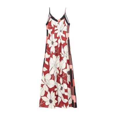 RUE•8ISQUIT ロングワンピース&ドレス ブラウン 38 ポリエステル 100% ロングワンピース&ドレス