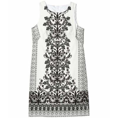 ロンドンタイムス ワンピース トップス レディース Sleeveless Shift Dress Soft White/Black