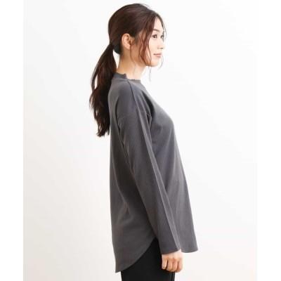 a.v.v / 【抗菌・防臭】リブハイネックチュニックT WOMEN トップス > Tシャツ/カットソー